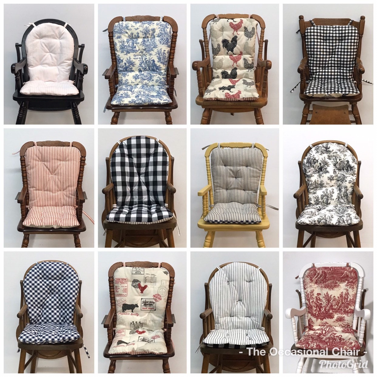 High Chair Cushion For Vintage Wooden High Chairs Custom Made