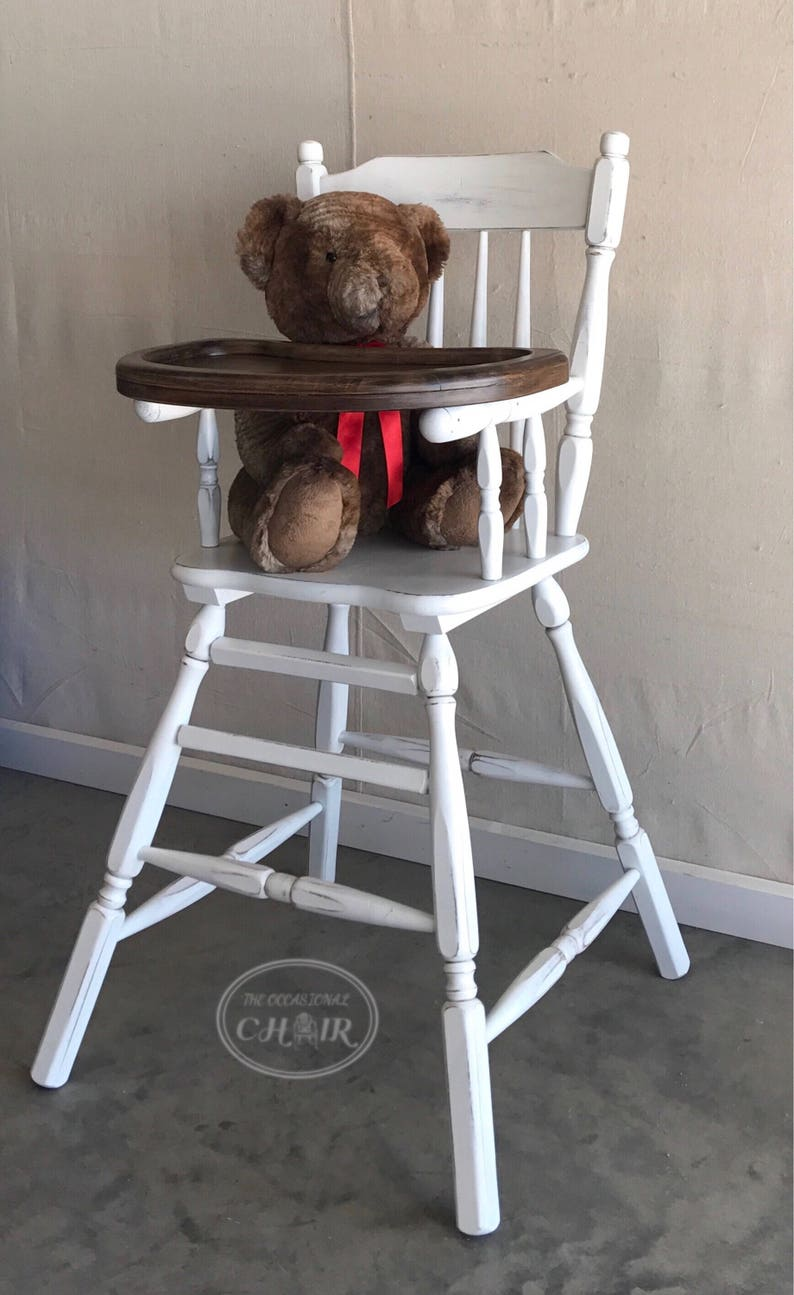 daa3bc001d7ee SOLD Vintage 1950s Farmhouse Style Wooden Highchair