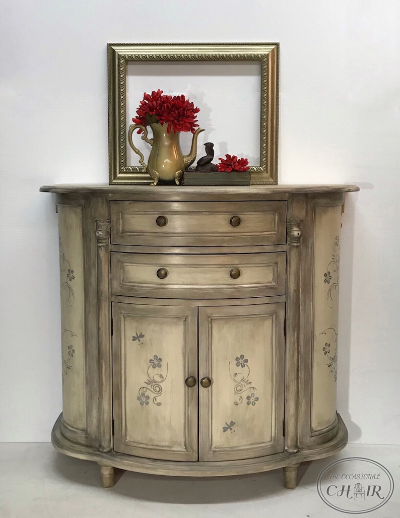 Custom Painted Cabinet, Side Table, Entry Table / Chest