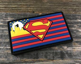Superman Flag Series 3D PVC Morale Patch