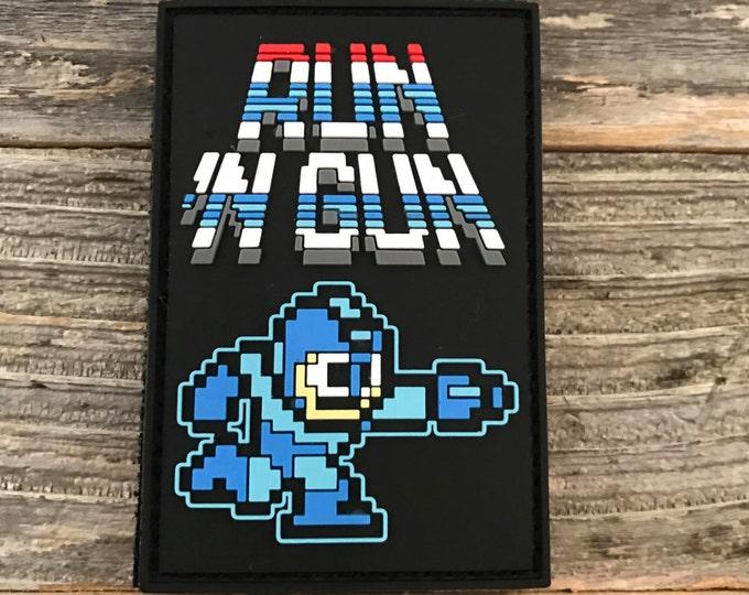 Mega Man Run 'N Gun 3D PVC Morale Patch