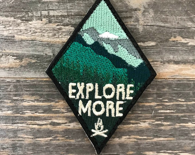 "Diamond ""Explore More"" series embroidered Morale Patch"
