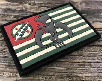 Boba Fett Flag Series 3D PVC Morale Patch