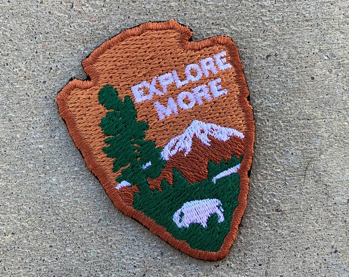"Arrowhead ""Explore More"" series embroidered Morale Patch"