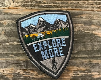 Explore More Badge series embroidered Morale Patch
