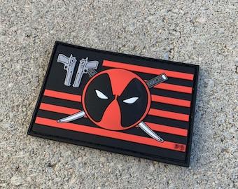 Deadpool Flag Series PVC Morale Patch v 2.0