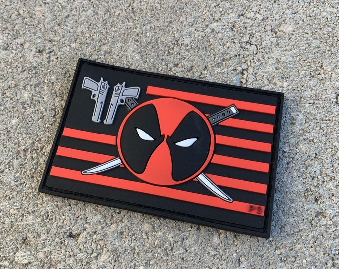 Deadpool Flag Series PVC Morale Patch v 2.0