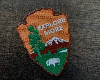 """Arrowhead """"Explore More"""" series embroidered Morale Patch"""