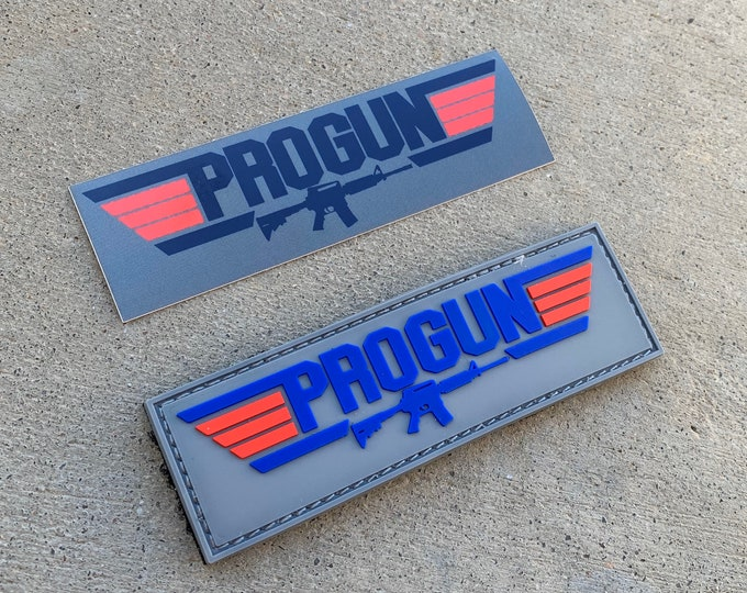 Pro Gun 3D PVC Morale Patch with Free Sticker!