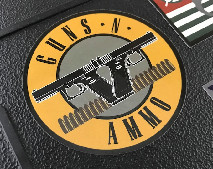 Guns N Ammo Sticker