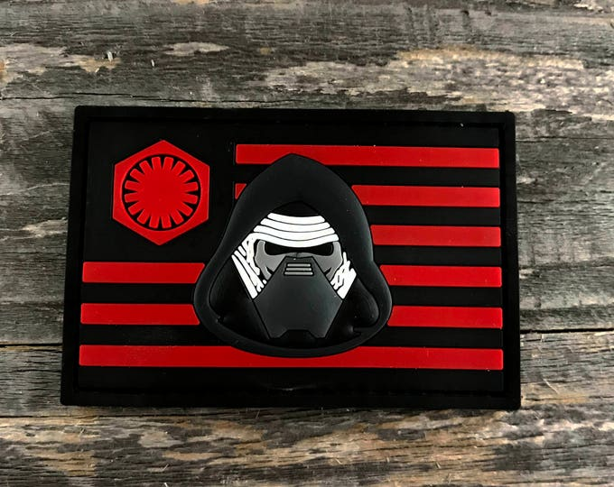 Kylo Ren Flag Series 3D PVC Morale Patch