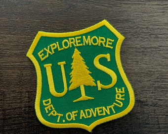 """Forest Ranger Badge """"Explore More"""" series embroidered Morale Patch"""