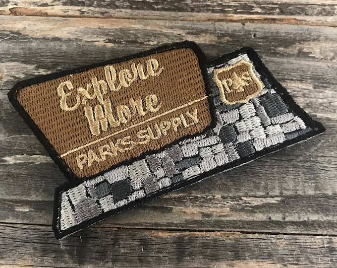 "National Parks ""Explore More"" series embroidered Morale Patch"