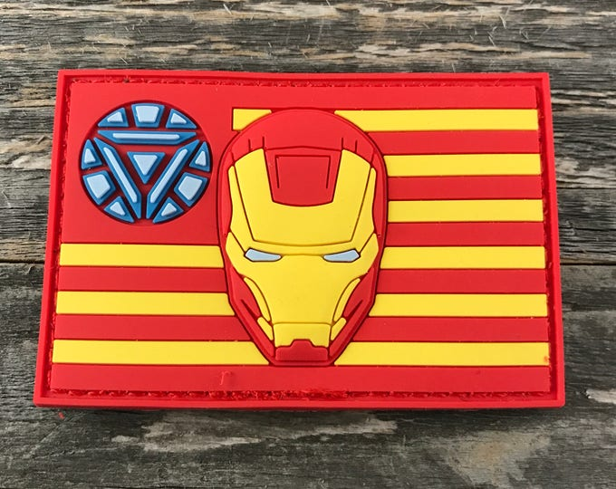 Iron Man Flag Series  3D PVC Morale Patch