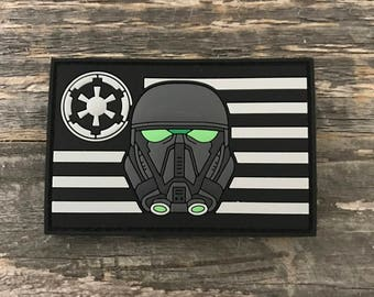 Death Trooper Flag Series  3D PVC Morale Patch