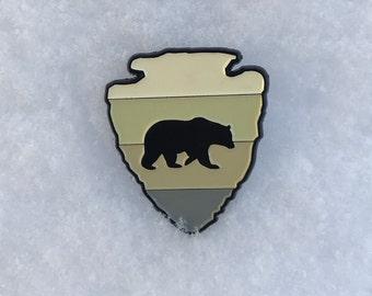 Bearrowhead Enamel Pin