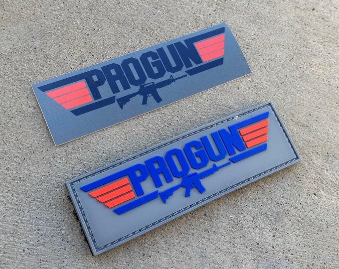 Pro Gun 3D PVC Morale Patch with Free Sticker!