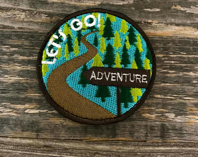 Let's Go! Adventure Embroidered Patch