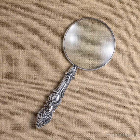 Stunning Sterling Silver Rococo Handle Magnifying Glass Sheffield 1903
