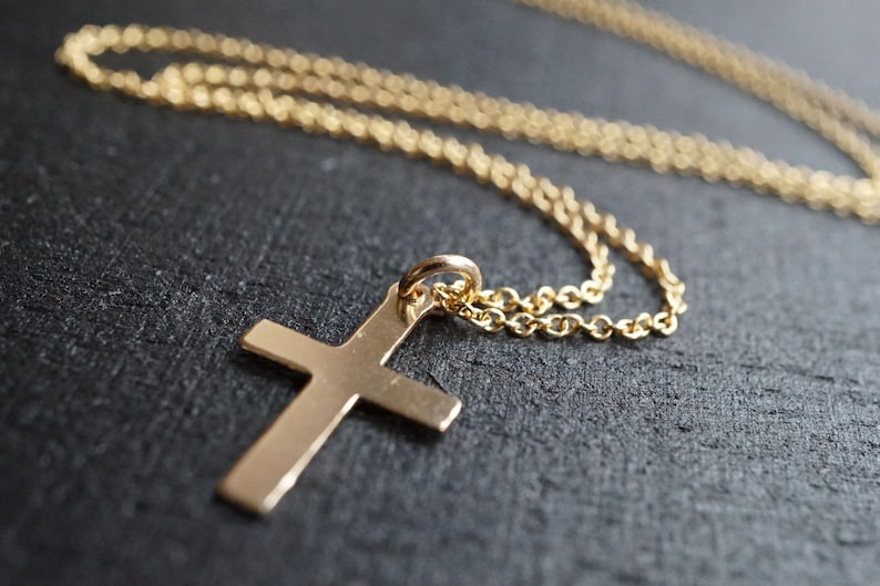 Gold Filled Cross Necklace* Dainty* Gift for her* Feminine* Dainty necklace* 14K Gold Filled jewelry