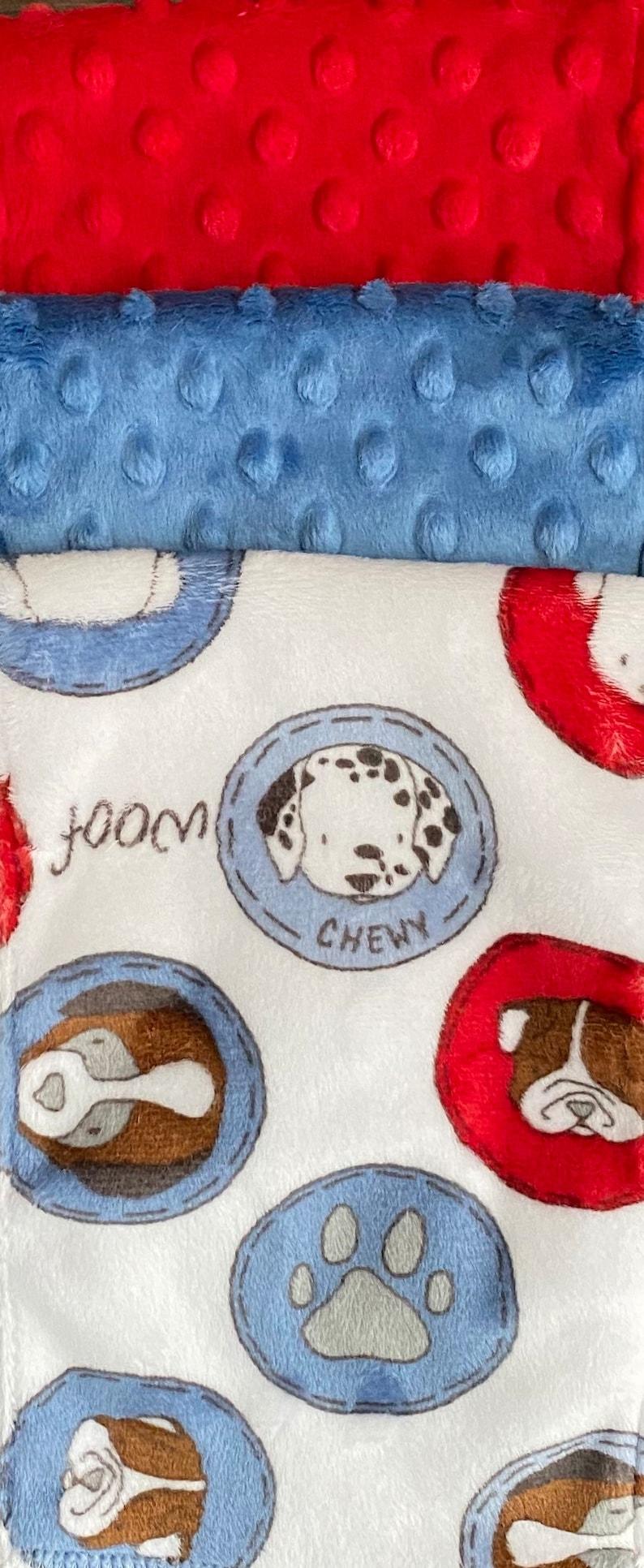 Gotta Love Dogs Minky Burp Cloth Set