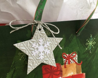Silver Star Gift Tags - Set of 10