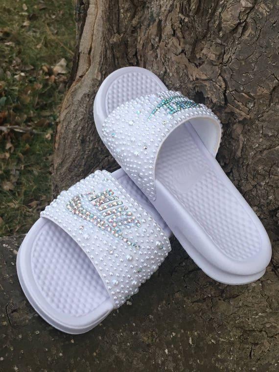 989875c9152 Cute Custom Nike Slides