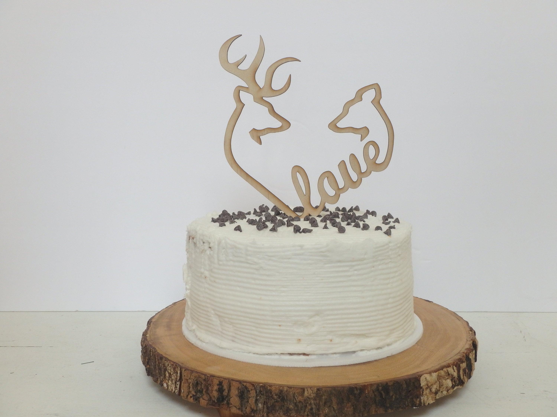 Love Cake Topper Wood Cake Topper Wedding Cake Topper Etsy