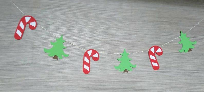 Christmas Wall Hanging Candy Cane Christmas Garland Christmas tree Christmas Bunting Christmas Party decoration Christmas Decoration