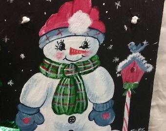Painted Slate - Snowmen