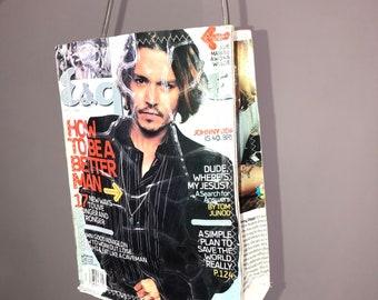 Upcycled Johnny Depop magazine purse  41d162e73