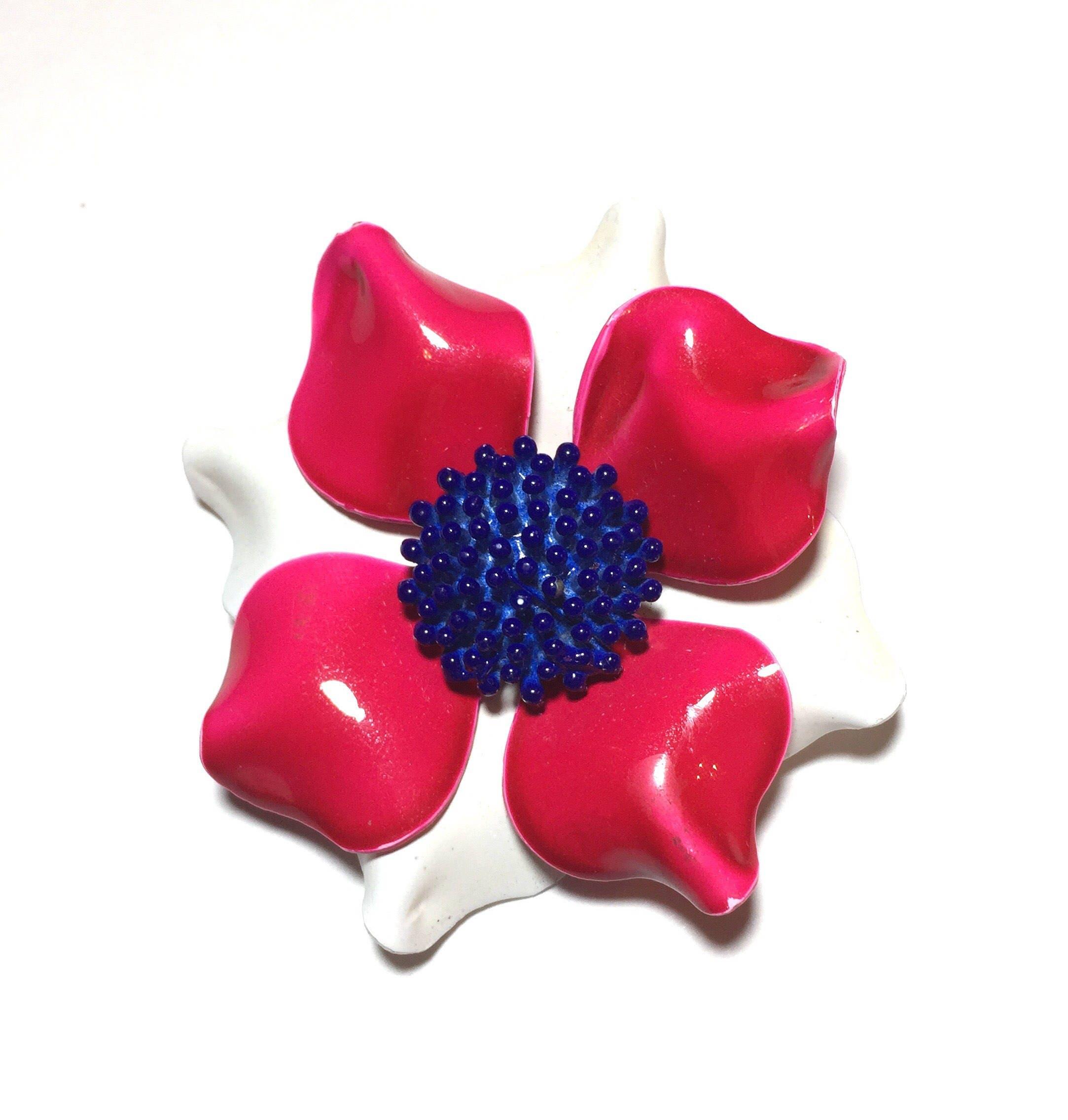 Flower Power Enamel Brooch Enamel Pin Brooch Flower Pin