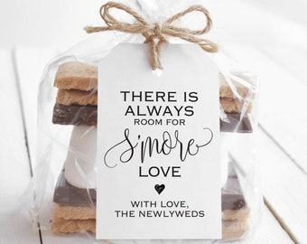Pack of 40 There Is Always Room For S'More Love Wedding Tag, Wedding Favor Tag, Thank You Tag, Custom Tag - Hand Made To Order
