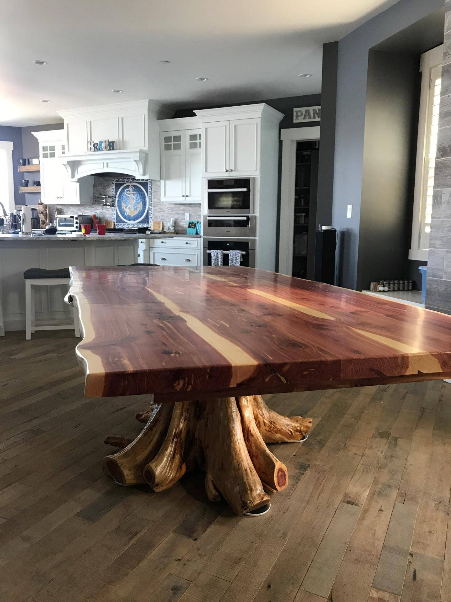 Stump Table Live Edge Dining, Live Edge Dining Room Table