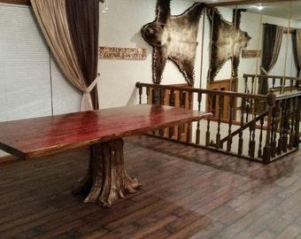 Stump Table, Live Edge Dining Table, Live Edge Table, Cedar Table, Cedar Stump Table, Dining Table