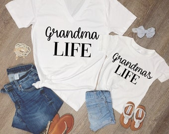 d1fe29def grandma life and grandmas life matching grandma and me shirts
