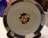 Vintage 8 3 4 quot Wide Gold Imari Hand Painted Floral Peacock Design Bowl. 3 1 2 quot Tall. Ex Cond. Manufacturers Mark. Free Shippin in U.S.A.