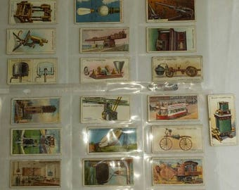 Vintage Collection of 31 Will's Cigarette Cards from the Early 20th Century. Most from the 1910-1920 Time frame. All within a Folder. Nice.