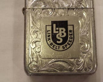 Vintage Advertising Park Lighter for Link-Belt-Speeder. Manufactured in Murfreesboro-Tenn. Working Condition. Fleur-de-Lis Design. See pics.