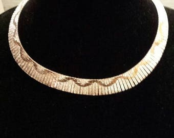 Beautiful 925 Milor Choker Necklace.  Marked Made in Italy.  50 Dollars. 16 Inches. Great Gift Idea. No Damage. Free USA Shipping.