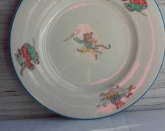 Vintage O.P. Co. Syracuse China Nursery Rhyme Plate. This plate has no cracks, chips or crazing. A great collectible.  A very nice gift idea