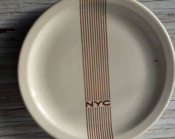 """Vintage 1948 New York Central Railroad Dining Car 8 7/8"""" Plate. Mercury Pattern. Grading Cond. Is a 2. Has a small blemish from manufacturer"""