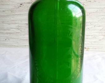 Vintage 1930s Senserlight Mineral Waterworks New York. Green Seltzer-Bottle. Nicely Embossed. Very-Nice-Cond. Mfg Mark on Bottom. Very clean