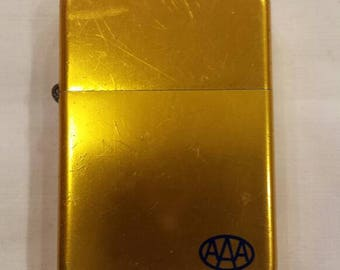 Vintage Advertising Park Lighter for the AAA (Triple A). Manufactured in Murfreesboro,Tenn. Working Condition. Nice Goldtone Finish.