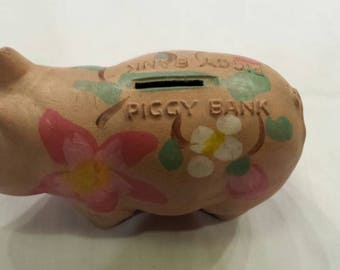 "Vintage 1960s Wenden-Crafts New York. Pressed Pulp.  Rare Piggy Bank.  Nicely Used Condition.  6"" L, 3"" W, 4"" H. Great Collectible.  V Nice."