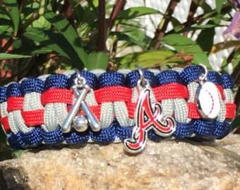 Atlanta Braves Paracord Bracelet