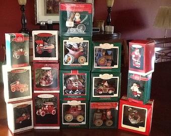 Here Come Santa Ornaments Series Lot of 16 Hallmark Keepsake