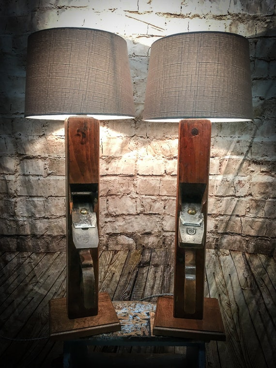 Vintage Carpenters Block Plane Lamps