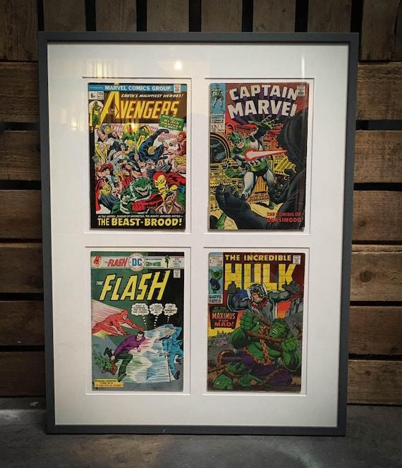 Set of Framed Marvel and DC Comics