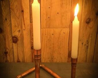 Industrial Copper Pipe candelabra